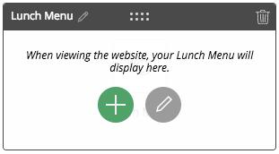 Quick add lunch menu