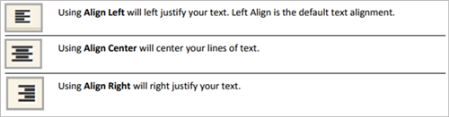 align text tools